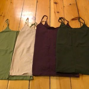Set of 4 the limited stretchy cami in medium.